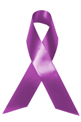 Purple cancer ribbon